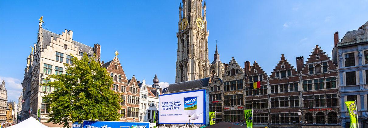 Danone - Pop Impact - Grote Markt Antwerp
